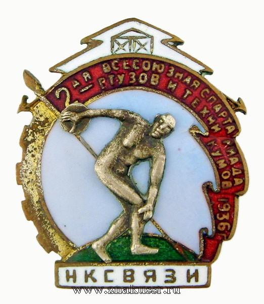 2 -ая всесоюзная спартакиада Втузов и техникумов 1936 год нксвязи