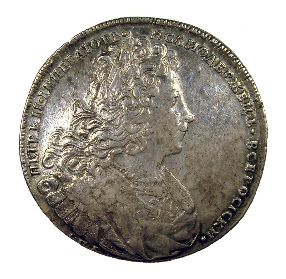 Рубль 1727 г. СПБ*554