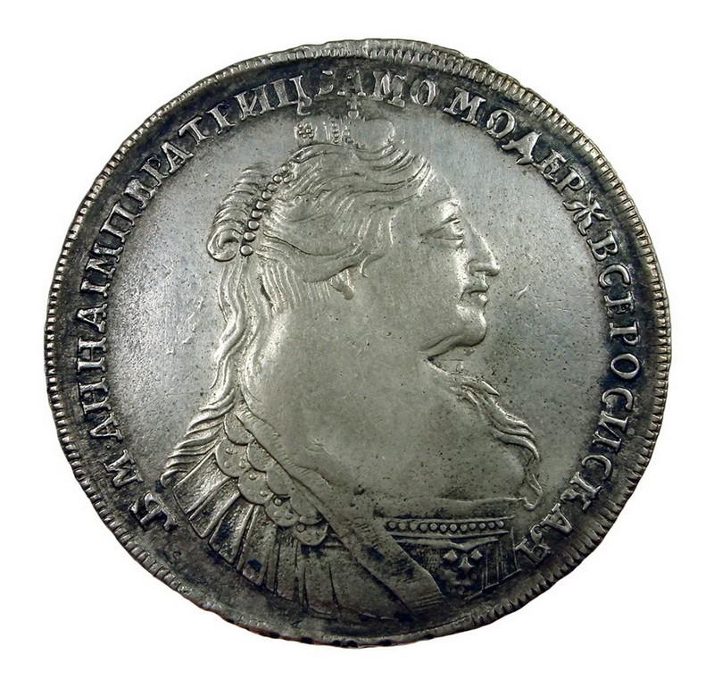 1 рубль 1734 г. , двойной удар*557